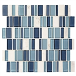 "American Olean Entourage Jubilance - JB03 Esprit Blend - 2"" X Random Interlocking Glass & Stone Mosaic Tile"