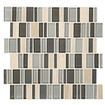 "American Olean Entourage Jubilance - JB05 Elation Blend - 2"" X Random Interlocking Glass & Stone Mosaic Tile"