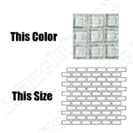 American Olean Solare Glass - SO65 Ice - 1X2 Brick Subway Clear Color Glass Tile Mosaic