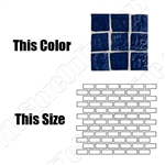 American Olean Solare Glass - SO80 Midnight - 1X2 Brick Subway Clear Iridescent Color Glass Tile Mosaic