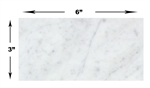 Carrara White Marble - 3 X 6 Subway Brick Rectangle Tile - ( 100 S/F ) - HONED
