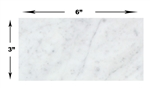Carrara White Marble - 3 X 6 Subway Brick Rectangle Tile - HONED