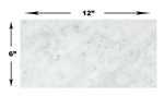 Carrara White Marble - 6 X 12 Subway Brick Rectangle Tile - HONED
