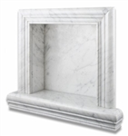Carrara White Marble - Shampoo Shower Wall Niche Shelf - Recessed Hand-Made - SMALL - Polished Finish