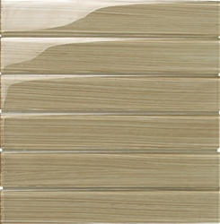Glass Tile Plank - 2X12 Bellavita Bamboo Glass Tile Plank - BP12DE Desert - Glossy