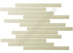 Bellavita Corduroy Linear Glass Tile - BVTCOALO Almond - Strip Stick Glass Tile Mosaic - Glossy