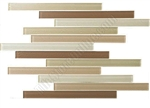 Bellavita Corduroy Linear Glass Tile - BVTCOECO Ecru - Strip Stick Glass Tile Mosaic - Glossy