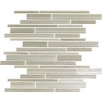 Bellavita Cashmere - CMAM Alaskan Malamute - Textured Hand Brushed Linear Strip Glass Tile Mosaic