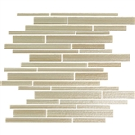 Bellavita Cashmere - CMML Mountain Lion - Textured Hand Brushed Linear Strip Glass Tile Mosaic