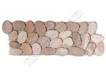 River Rock Pebble Stone Border - Carmel Dark Pink Interlocking Pebble Liner