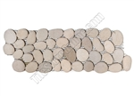 River Rock Pebble Stone Border - Maluku Tan Interlocking Pebble Liner