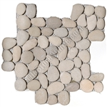 River Rock Pebble Stone Mosaic - Maluku Tan Interlocking Pebble Mosaic