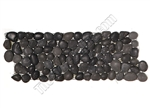 River Rock Small Pebble Stone Border - Star Black Interlocking Small Pebble Liner