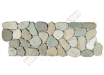 River Rock Pebble Stone Border - Taipei Green Interlocking Pebble Liner