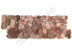 Sliced Flat Cut Pebble Stone Border - Canyon Red Interlocking Cut Stone Pebble Liner