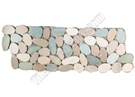 Sliced Flat Cut Pebble Stone Border - Turtle Mix Interlocking Cut Stone Pebble Liner