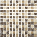 Crackle Glass Tile - 1 X 1 Crackled Glass Tile Mosaic - GC1003 Earth Blend
