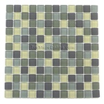 Glass Tile Mosaic - 1 X 1 - GM1001 Forest Mist Blend - Frosted
