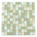 Glass Tile Mosaic - 1 X 1 - GM1003 Spring Meadow Blend - Frosted