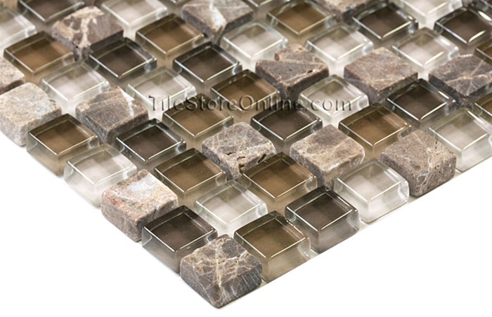 Gl Tile And Tumbled Marble Mosaic 5 8 X Gs5001 Emperador Brown Glossy
