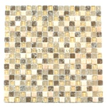 Crackle Glass Tile and Tumbled Marble Mosaic - 5/8 X 5/8 GS5005 Crackled Desert Blend