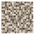 Crackle Glass and Tumbled Marble Mosaic - GS5010 - 5/8 X 5/8 Crackled Glass and Emperador Light Marble Mosaic