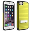 iPhone 7 / 8 Plus Brushed Metallic Armor Case with Kickstand - Gold
