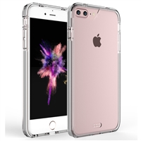 iPhone 7 / 8 Plus Crystal Case with Color Bumper - Clear