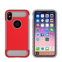 iPhone X CF Armor Case - Red