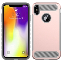 iPhone XS Max CF Armor Case - Rose Gold