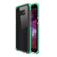 Samsung Galaxy S8 Crystal Case with Color Bumper - Green