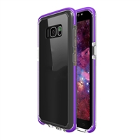 Samsung Galaxy S8 Plus Crystal Case with Color Bumper - Purple