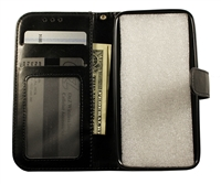 Samsung Galaxy S9 Leatherette Wallet Case - Black