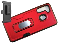 Samsung Galaxy A21 Multi-Function Holster Combo Case - Red