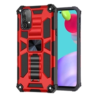 Samsung Galaxy A52 Magnetic Holder / Kickstand Armor Case - Red
