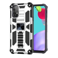 Samsung Galaxy A52 Magnetic Holder / Kickstand Armor Case - Silver