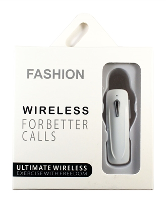BT163 Stereo Bluetooth Headset - White