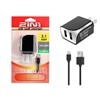 High Quality 2.1A Dual USB 2 in 1 Travel Charger for iPhone / lightning - Black