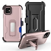 "iPhone 11 6.1"" Multi-Function Holster Combo Case - Rose Gold"