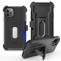 "iPhone 11 Pro Max 6.5"" Multi-Function Holster Combo Case - Black"