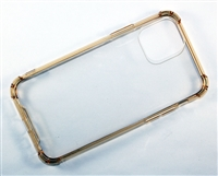 "iPhone 11 Pro Max 6.5"" Crystal Case with Edge Bumper - Gold"