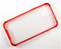 "iPhone 11 Pro Max 6.5"" Crystal Case with Edge Bumper - Red"