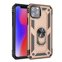 "iPhone 11 Pro Max 6.5"" Magnetic Ring Stand Hybrid Case - Gold"