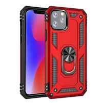 "iPhone 11 Pro 5.8"" Magnetic Ring Stand Hybrid Case - Red"