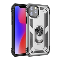 "iPhone 11 Pro 5.8"" Magnetic Ring Stand Hybrid Case - Silver"
