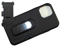 "Wholesale iPhone 12 Mini 5.4"" Multi-Function Holster Combo Case - Black"
