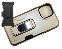 "Wholesale iPhone 12 Mini 5.4"" Multi-Function Holster Combo Case - Gold"