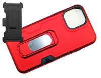 "Wholesale iPhone 12 Mini 5.4"" Multi-Function Holster Combo Case - Red"