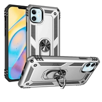 iPhone 12 Mini 5.4 Magnetic Ring Stand Hybrid Case - Silver