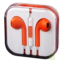 Headset with Mic. & Remote for New iPhone / iPod Orange
